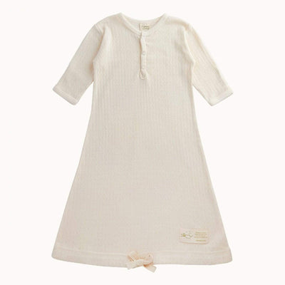 Natural Pointelle / Newborn Nature Baby Organic Cotton Sleeping Gown (Multiple Variants) - Naked Baby Eco Boutique