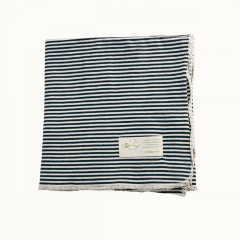 Navy Stripe Nature Baby Organic Cotton Swaddle Wrap (Multiple Variants) - Naked Baby Eco Boutique