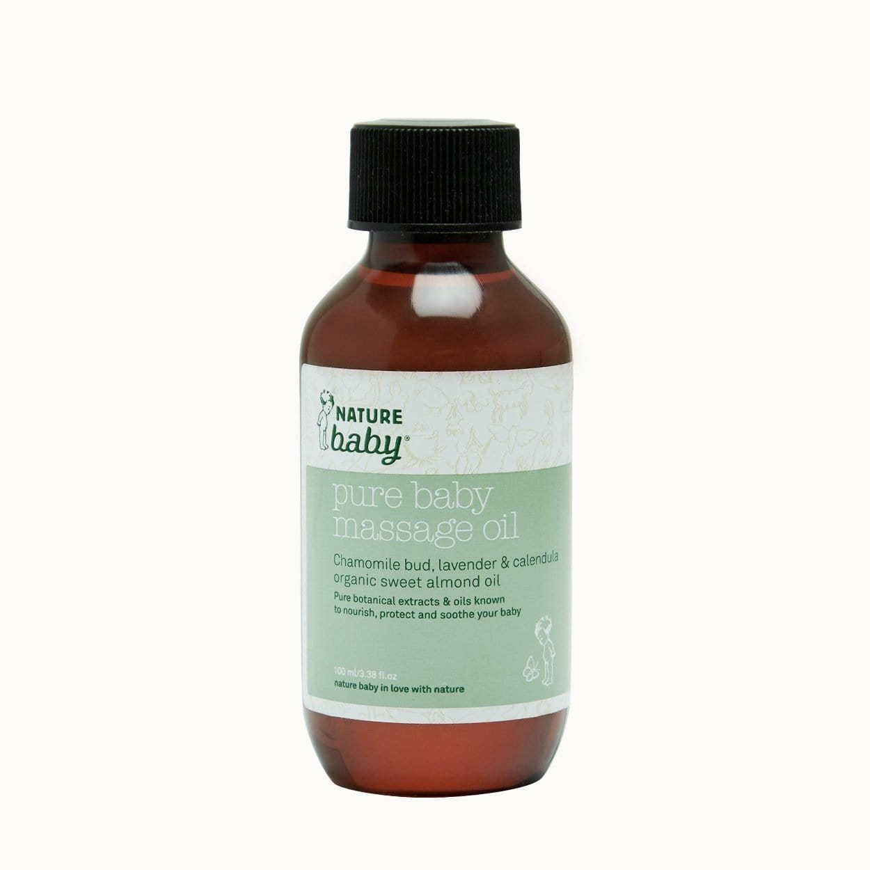 Nature Baby Pure Baby Massage Oil - Naked Baby Eco Boutique