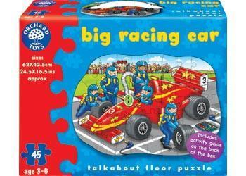 Orchard Toys Big Racing Car Floor Puzzle - Naked Baby Eco Boutique - New Zealand Eco Friendly Organic Baby Products - 1