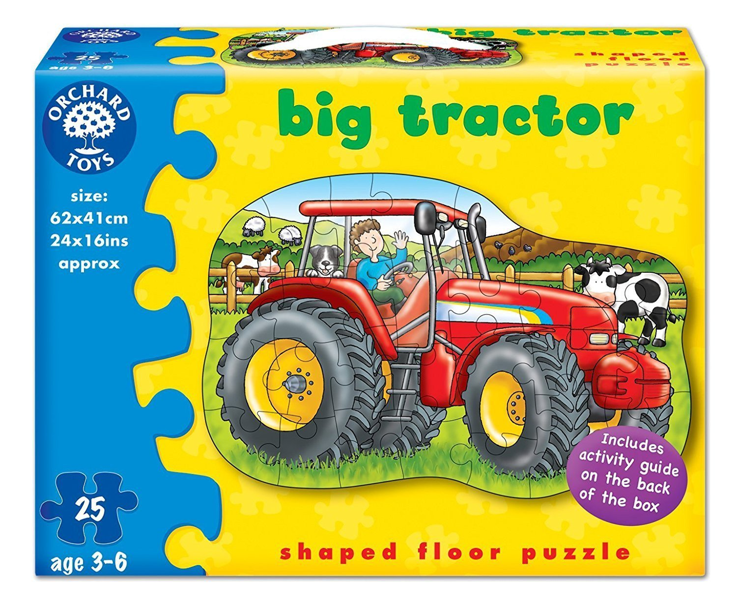 Orchard Toys Big Tractor Floor Puzzle - Naked Baby Eco Boutique