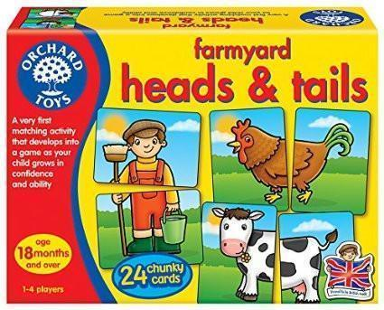 Orchard Toys Farmyard Heads and Tails Game - Naked Baby Eco Boutique