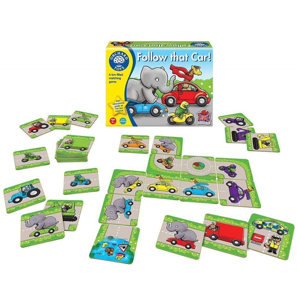 Orchard Toys Follow That Car! Game - Naked Baby Eco Boutique