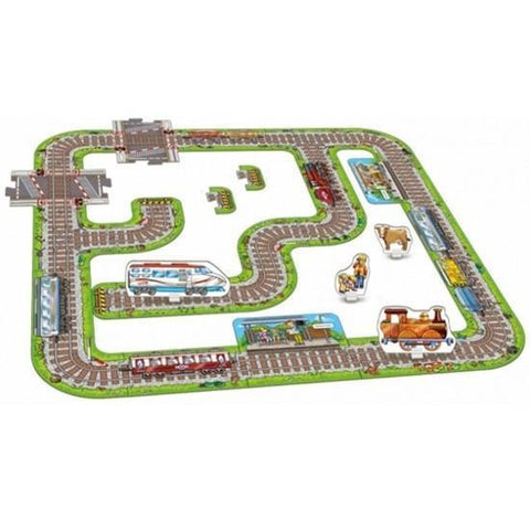 Orchard Toys Giant Railway Jigsaw Puzzle - Naked Baby Eco Boutique - New Zealand Eco Friendly Organic Baby Products - 2
