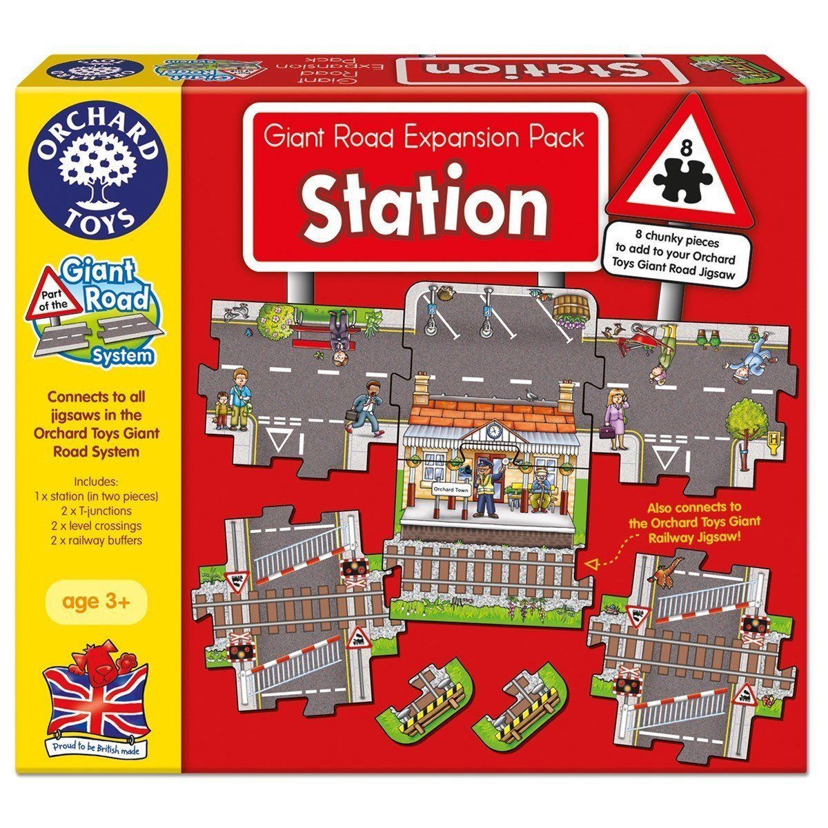 Orchard Toys Giant Railway Jigsaw Puzzle Expansion Pack - Naked Baby Eco Boutique