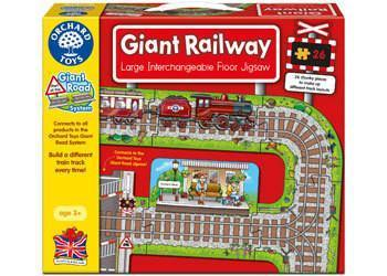 Orchard Toys Giant Railway Jigsaw Puzzle - Naked Baby Eco Boutique - New Zealand Eco Friendly Organic Baby Products - 1