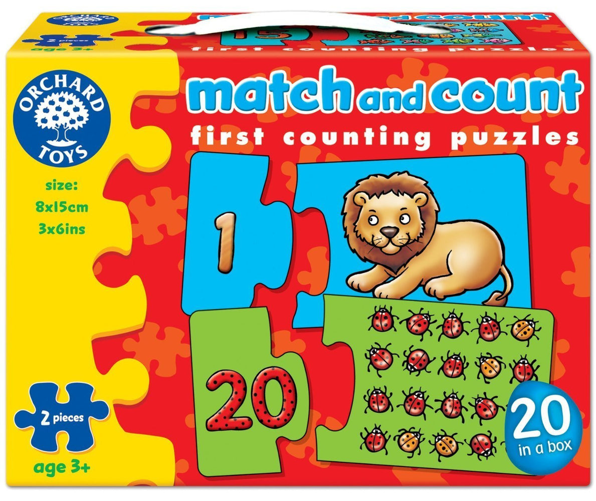 Orchard Toys Match and Count Puzzle - Naked Baby Eco Boutique - New Zealand Eco Friendly Organic Baby Products - 1