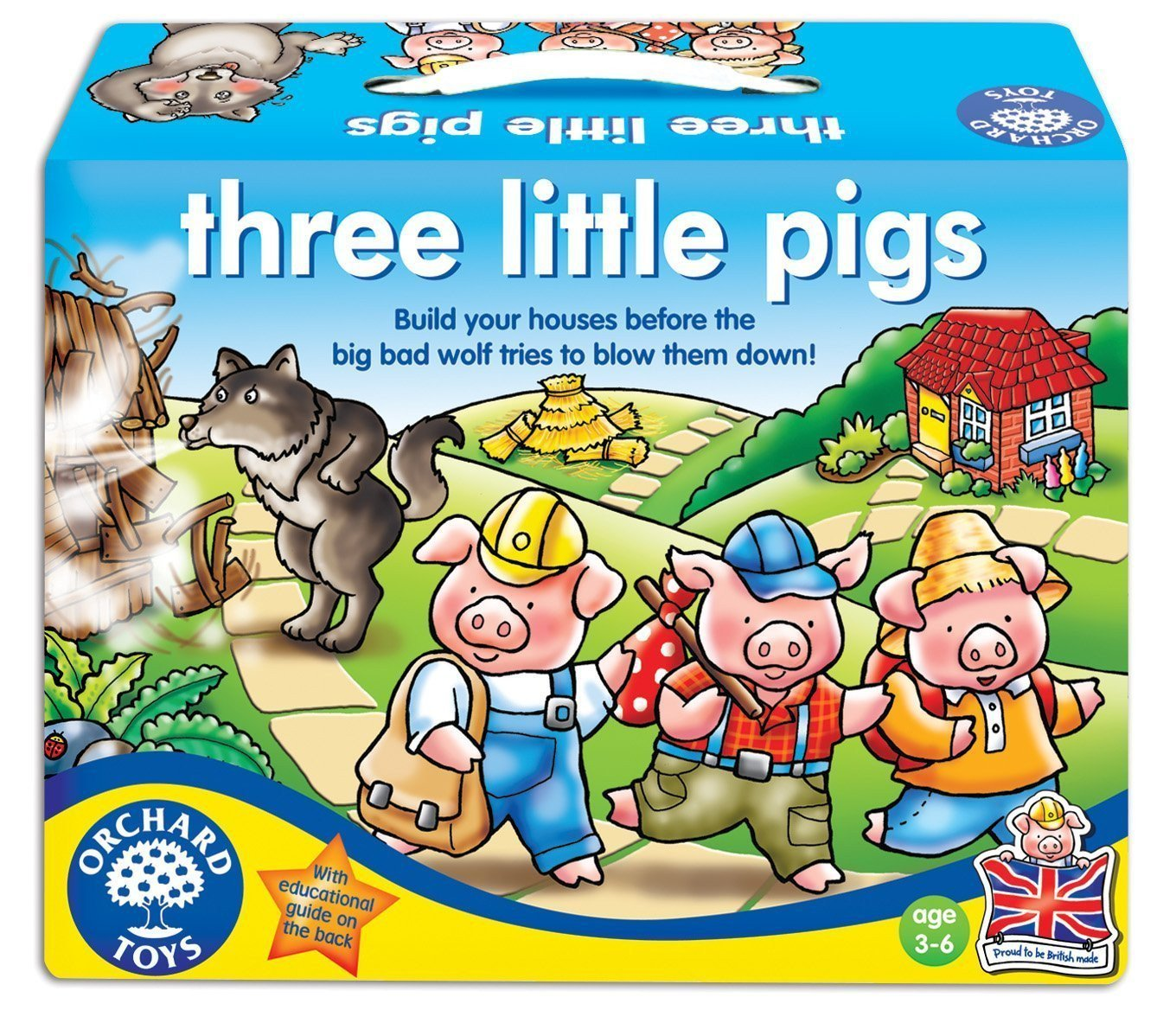 Orchard Toys Three Little Pigs Game - Naked Baby Eco Boutique