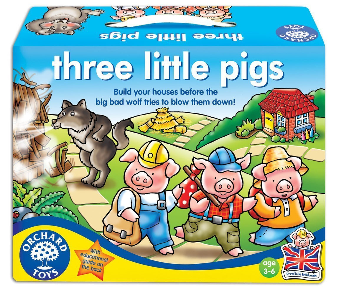 Orchard Toys Three Little Pigs Game - Naked Baby Eco Boutique - New Zealand Eco Friendly Organic Baby Products - 1
