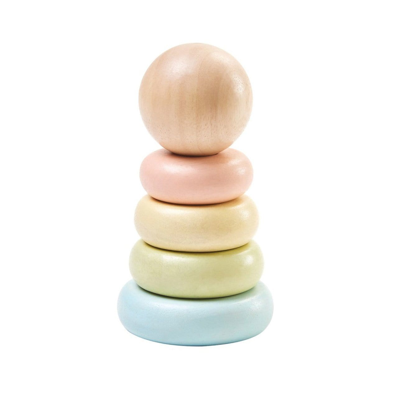 Plan Toys First Wooden Stacking Ring - Naked Baby Eco Boutique