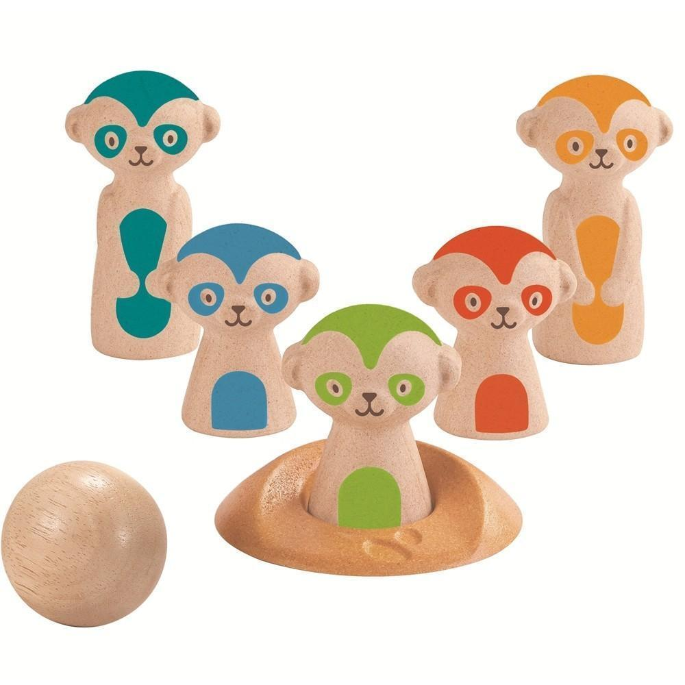 Plan Toys Meerkat Bowling - Naked Baby Eco Boutique