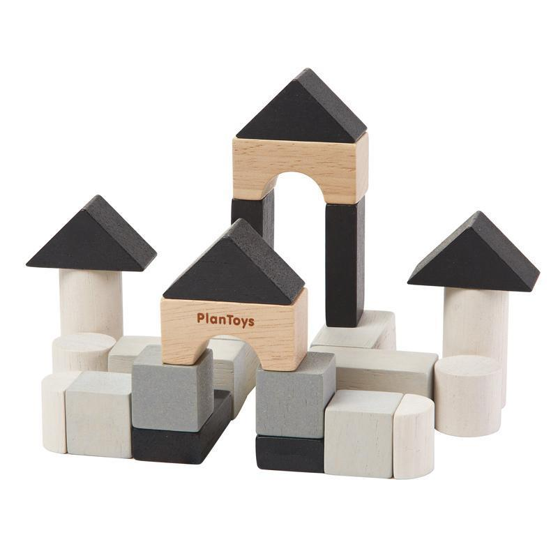 Plan Toys Mini Construction Set Building Blocks - Naked Baby Eco Boutique