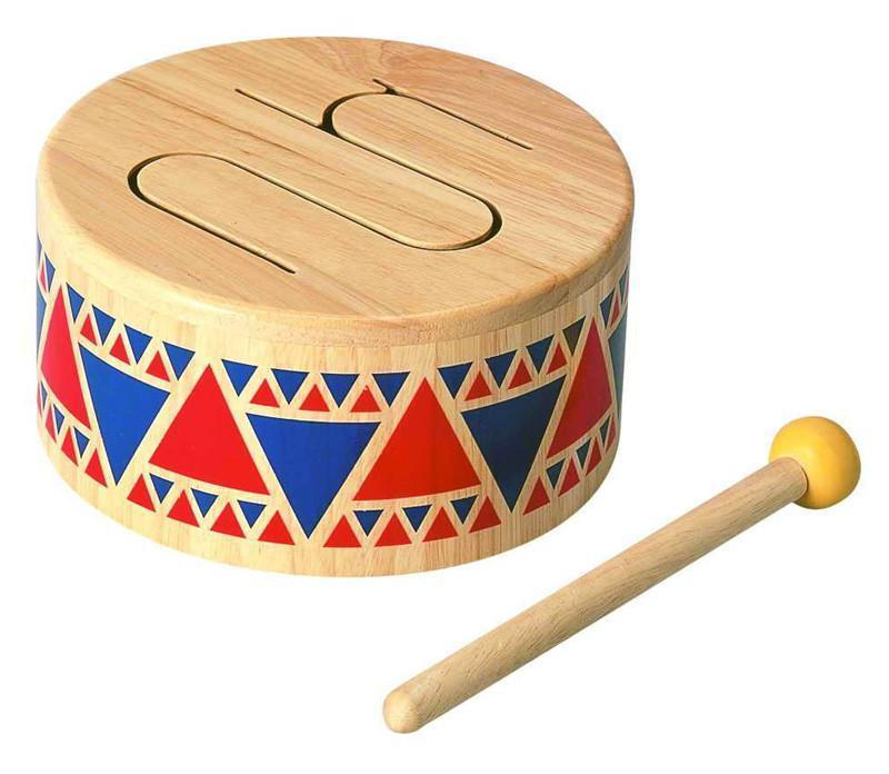 Plan Toys Solid Drum - Naked Baby Eco Boutique - New Zealand Eco Friendly Organic Baby Products