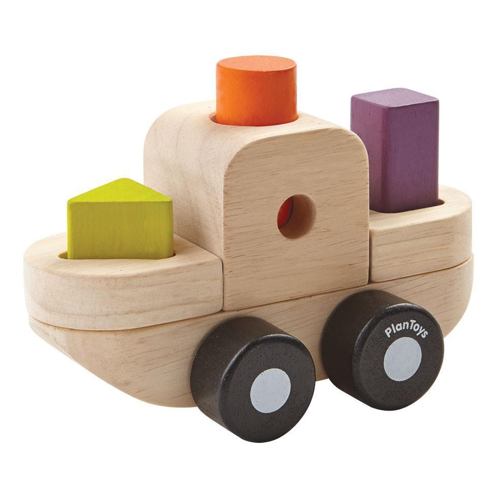 Plan Toys Sorting Puzzle Boat - Naked Baby Eco Boutique - New Zealand Eco Friendly Organic Baby Products