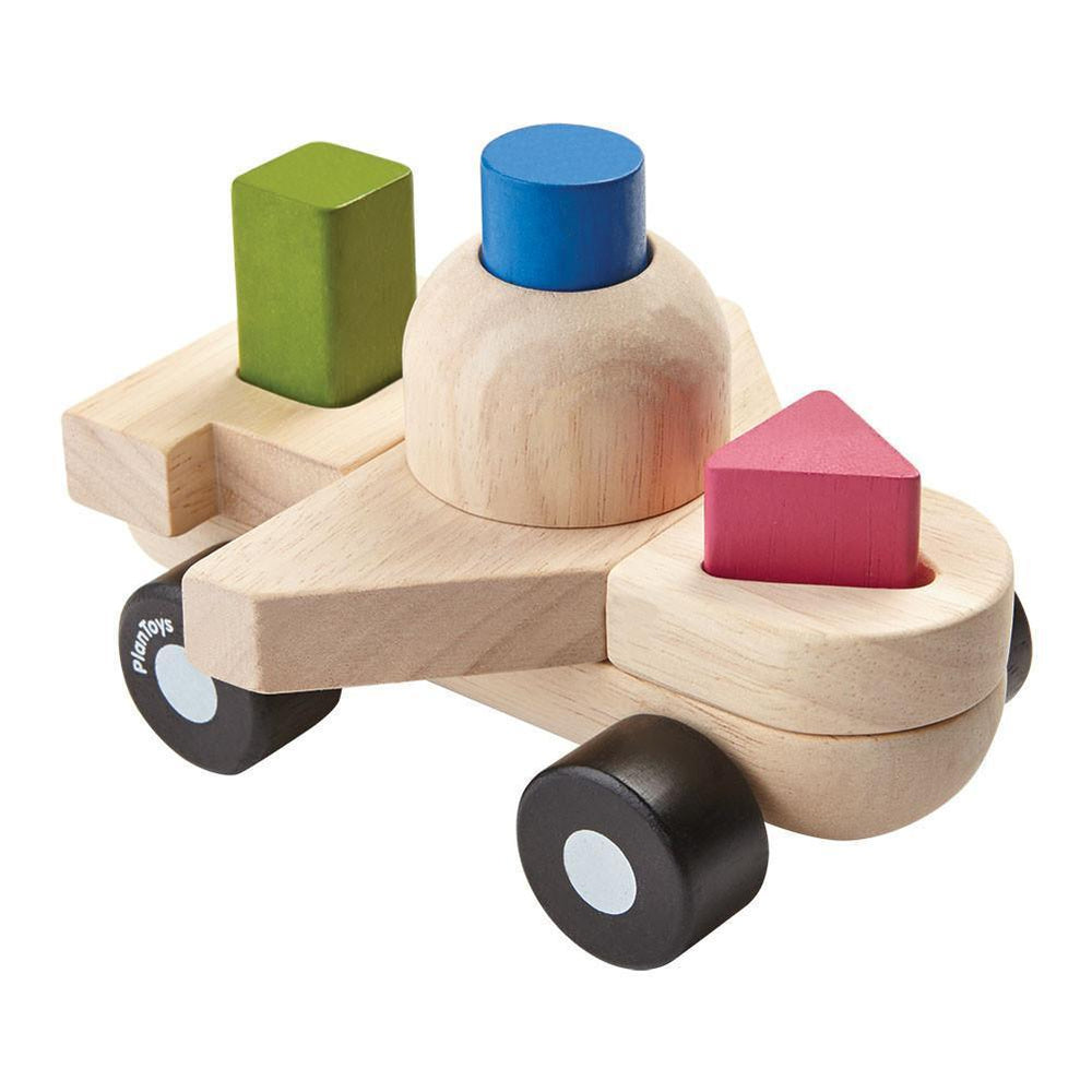 Plan Toys Sorting Puzzle Plane - Naked Baby Eco Boutique - New Zealand Eco Friendly Organic Baby Products