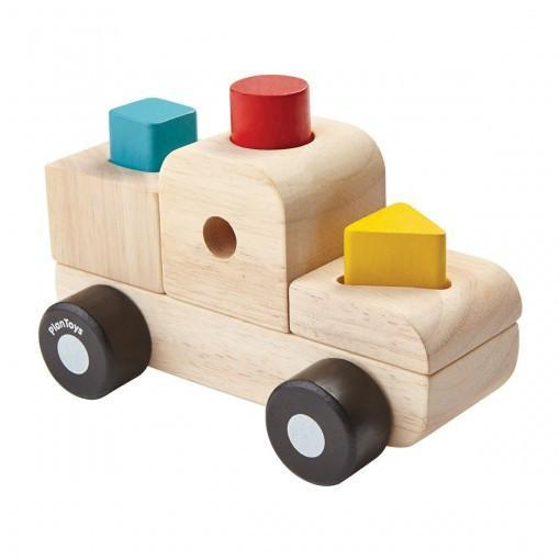 Plan Toys Sorting Puzzle Truck - Naked Baby Eco Boutique - New Zealand Eco Friendly Organic Baby Products