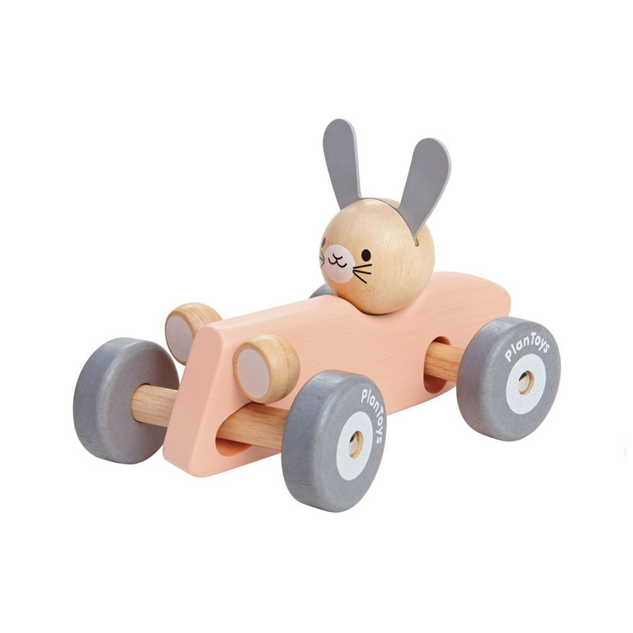 Bunny Plan Toys Wooden Racing Cars (Multiple Variants) - Naked Baby Eco Boutique
