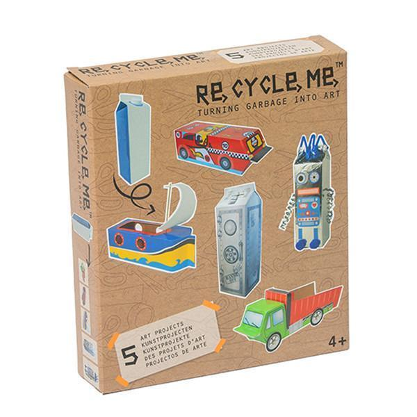 Milk Carton / Boy ReCycleMe Sustainable Craft Kits - Naked Baby Eco Boutique