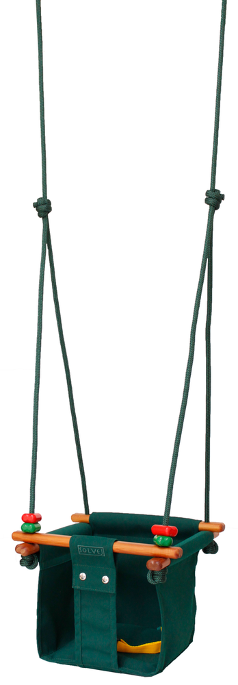 Solvej Baby & Toddler Swing - Forest Green - Naked Baby Eco Boutique - New Zealand Eco Friendly Organic Baby Products
