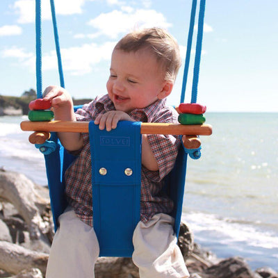 Solvej Baby & Toddler Swing - Pacific Blue - Naked Baby Eco Boutique