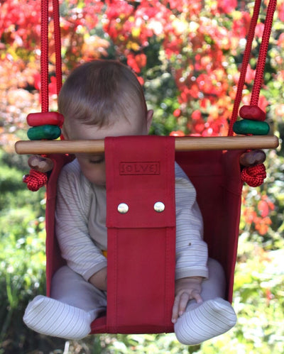Solvej Baby & Toddler Swing - Pohutukawa Red - Naked Baby Eco Boutique