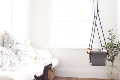 Solvej Baby & Toddler Swing - Smokey Grey - Naked Baby Eco Boutique