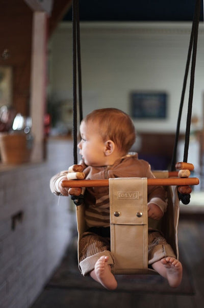 Solvej Baby & Toddler Swing - Soft Linen - Naked Baby Eco Boutique