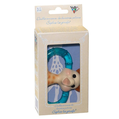 Sophie the Giraffe Double Ice Bite Teething Ring - Naked Baby Eco Boutique
