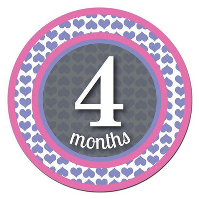 Sticky Bellies Milestone Stickers - Patterned Princess - Naked Baby Eco Boutique