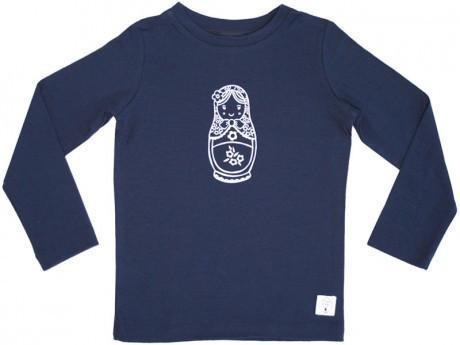 1 / Navy Three Bags Full Babushka Shirt - Naked Baby Eco Boutique