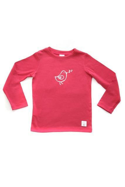Three Bags Full Baby Birdie Shirt - Naked Baby Eco Boutique - New Zealand Eco Friendly Organic Baby Products