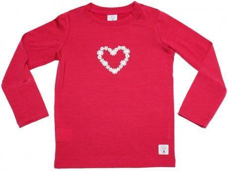 1 / Raspberry Three Bags Full Daisy Loveheart Shirt - Naked Baby Eco Boutique