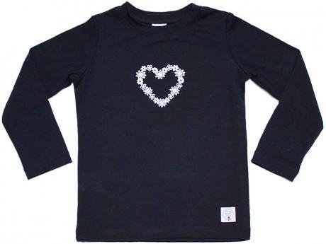 1 / Navy Three Bags Full Daisy Loveheart Shirt - Naked Baby Eco Boutique