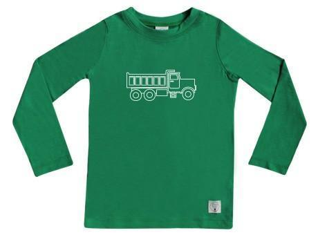 1 / Apple Green Three Bags Full Dump Truck Shirt - Naked Baby Eco Boutique