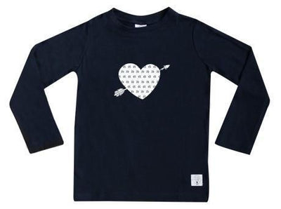 5 / Navy Three Bags Full Heart Breaker Shirt - Naked Baby Eco Boutique