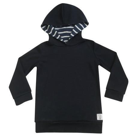Three Bags Full Navy Hoodie - Naked Baby Eco Boutique - New Zealand Eco Friendly Organic Baby Products