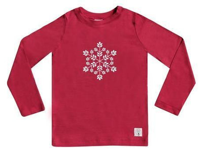 1 / Raspberry Three Bags Full Snowflake Shirt - Naked Baby Eco Boutique