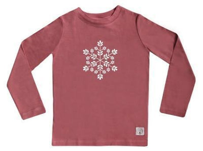 1 / Rose Three Bags Full Snowflake Shirt - Naked Baby Eco Boutique