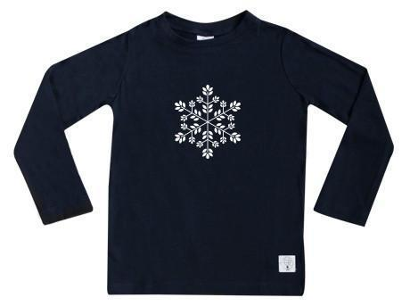 1 / Navy Three Bags Full Snowflake Shirt - Naked Baby Eco Boutique
