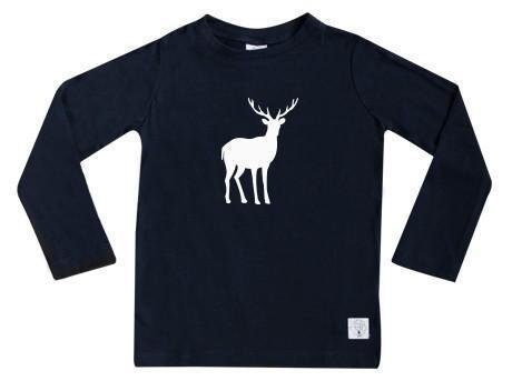 1 / Navy Three Bags Full Stag Shirt - Naked Baby Eco Boutique