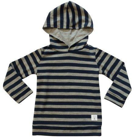 Three Bags Full Striped Hoodie - Naked Baby Eco Boutique - New Zealand Eco Friendly Organic Baby Products