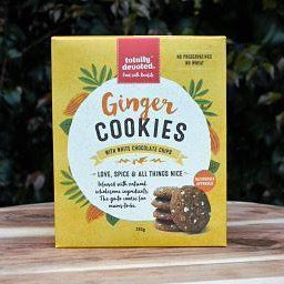 Totally Devoted Ginger Cookies with White Chocolate - Naked Baby Eco Boutique - New Zealand Eco Friendly Organic Baby Products
