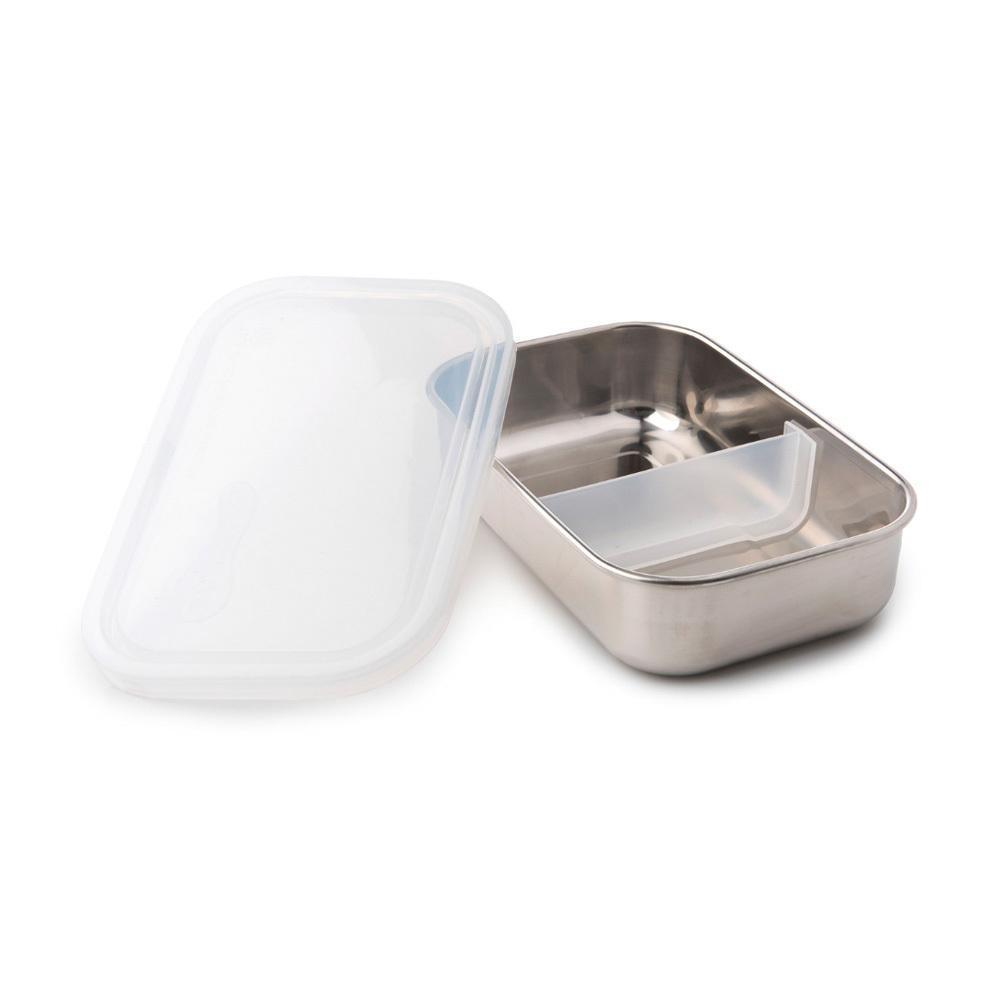 Clear U-Konserve Divided Rectangle Food Storage Container - Naked Baby Eco Boutique