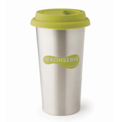Lime U-Konserve Stainless Steel Insulated Coffee Cup (Multiple Variants) - Naked Baby Eco Boutique