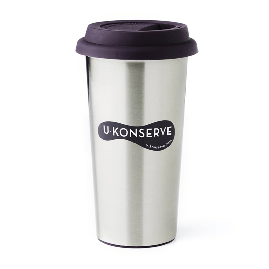 Eggplant U-Konserve Stainless Steel Insulated Coffee Cup (Multiple Variants) - Naked Baby Eco Boutique