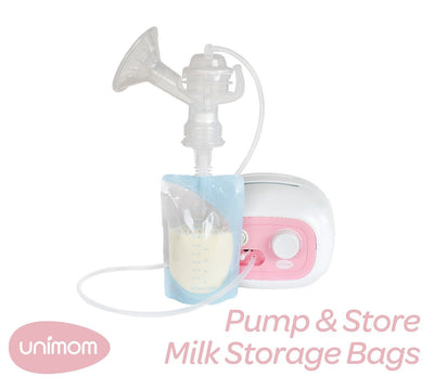 10 Bags Unimom Pump & Store Breast Milk Storage Bags - Naked Baby Eco Boutique