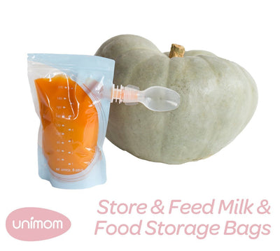10 Bags Unimom Store & Feed Breast Milk & Baby Food Storage Bags - Naked Baby Eco Boutique