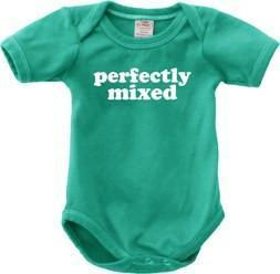 "0-6 Months Urban Smalls ""Perfectly Mixed"" Bodysuit - Naked Baby Eco Boutique"