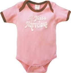 "0-6 Months Urban Smalls ""Say Hello to Miss Marvellous"" Bodysuit - Naked Baby Eco Boutique"