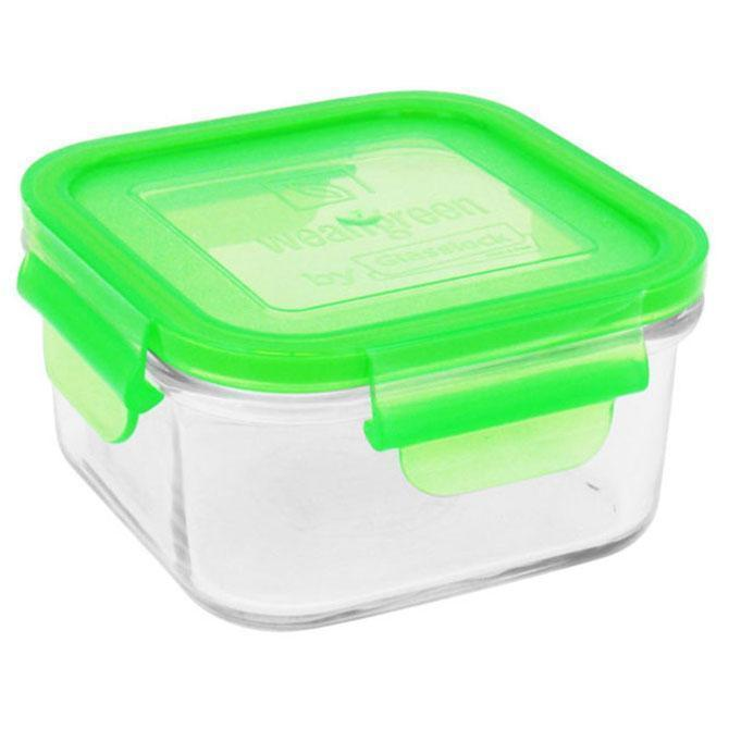 Pea Wean Green Glass Lunch Cube - Naked Baby Eco Boutique